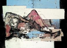 De quel désir parle t'on, 2001, technique mixte sur papier, 80X120 cm, collection privée.