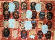 Les disparus I, 2001 huile sur toile, 200X240 cm. Collection privée.