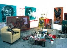 Vue de l' atelier, 2002, Paris.