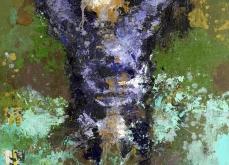 Ablution, 2005, huile sur toile et collage, 97X162 cm, collection privée.