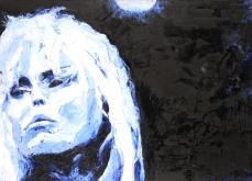 Blondie, 2007, huile sur toile 197X130 cm.