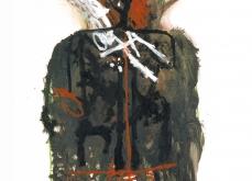 Sans titre, huile sur papier, 75X105 cm. Collection privée.