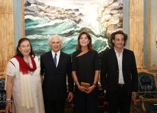 Du paysage à l'intime, 2015.Rencontre avec la princesse Caroline de Monaco.Galerie A Ribolzi.Photo JC Vinaj.