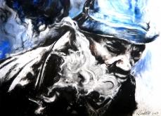 Smoke, 2009, pastel sur papier, 57X76 cm.
