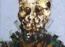Vanité aux carottes, 2002, huile sur toile, 97X162 cm. Collection privée.
