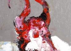 Vanité indienne, 2005,  huile sur toile, 197 x162 cm.
