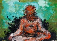 Sadhou, 2005, huile sur toile, 130X130 cm.