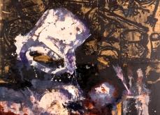 Accident de travail, 2005, huile sur toile, 195X162 cm.