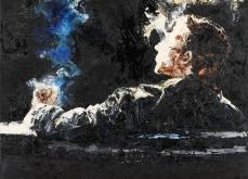 Entre temps, 2008, huile sur toile 130X130 cm, collection privée.