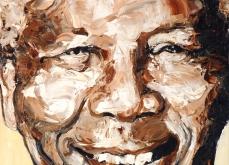 Free Nelson Mandela, 2009, huile sur toile 50X50 cm, collection privée.