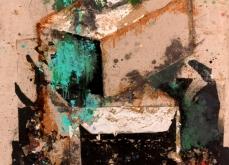 Palette, 2003, huile et collage sur toile, 130X197 cm. Collection privée.