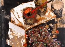 Cause commune, 2003, huile sur toile, 200X200 cm.