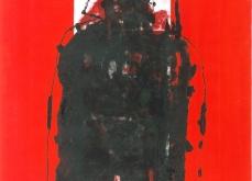 Autoportrait gris 2000 gravure au carborundum sur papier Arche 80X120cm édition limitée.