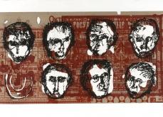 Les disparus, 2002, gravure au carborundum sur papier Arche, 80X140 cm, édition limitée.