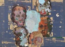 Les disparus II, 2001 huile sur toile, 130X130 cm. Collection privée.