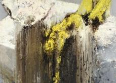 Chute de corps, 2003, huile sur toile, 150X150 cm. Collection privée.