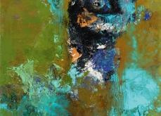 Gange,  2005, huile sur toile,197X130 cm, collection privée.