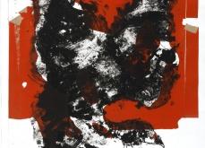 Prédation, 2002, gravure au carborundum sur papier Arche, 75X105 cm, édition limitée.