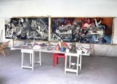 Vue de l'atelier, Kotakupam, 2009, Inde.
