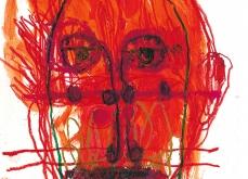 Le vent rouge,  huile sur papier, 30X40 cm. Collection privée.