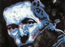 Joe strummer, 2010, gravure Aquatinte sur papier arche, 75X105 cm, 2010, édition limitée.