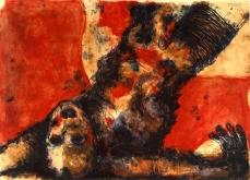 Chute de corps, 2002, lithographie sur papier Arche, 55X76 cm, édition limitée.
