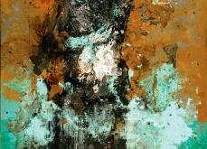 Gange II, 2005,  huile sur toile, 197X130 cm.
