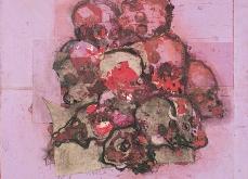 Vanité́ Collective, 2001, huile sur toile, 130X130 cm. Collection privée.