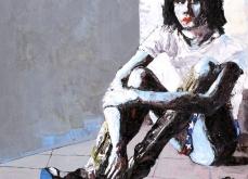 PJ Harvey, 2007,  huile sur toile 150X150 cm, collection privée.