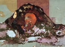 Cannibalisme, 2001, huile sur toile, 97X162 cm.