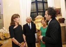 Du paysage à l'intime. 2015. Vernissage, rencontre avec la princesse Caroline de Monaco, Galerie Adriano Ribolzi, Monaco.Photo J-C Vinaj