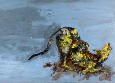 Chien du matin, 2005, huile sur toile, 197X130 cm, collection privée.