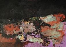 Obscénité & Fureur, 2001, huile sur toile, 97X162 cm. Collection privée.