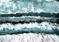 Reborn, 2013, huile sur toile, 130X197 cm.
