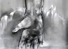 Fluide, 2013, pastel sur papier, 76X105 cm.