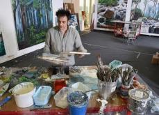 Préparation de l'exposition, Reborn, 2013, Atelier Manutan, Gonesse.