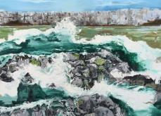 Chimère, 2012, huile sur toile, 200X200 cm.Collection privée.