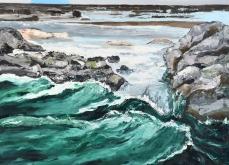 Incarnat, 2013, huile sur toile, 200X200 cm.