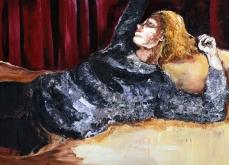 Vertigo, 2013, huile sur toile, 130X197 cm.