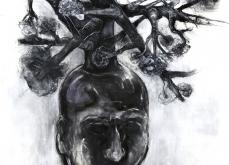 Germination, 2013, pastel sur papier, 130X130 cm.