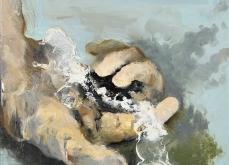 Insaisissable, 2015, huile sur toile 30X30 cm.