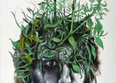Germination, 2015, pastel sur papier, 76X 105 cm.