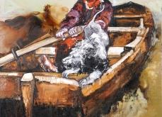 Le quarantième rugissant, 2010, huile sur toile, 200X200 cm.