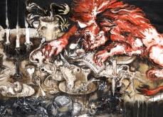 le festin du coeur, 2010, huile sur toile, 114X195 cm.