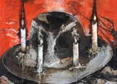 La quadrature du cercle, 2010, huile sur toile, 150X120 cm, collection privée.
