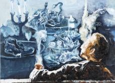 Vitriol, 2010, huile sur toile, 150X150 cm.