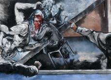 Spectacle, 2010, pastel sur papier, 130X300 cm.