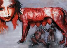 Flesh, 2011, pastel sur papier, 130X180 cm.