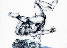 Médusa, 2011, pastel sur papier, 130X180 cm.
