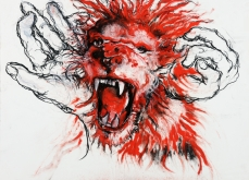 Scream, 2011, pastel sur papier, 57X76 cm, collection privée.